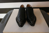 Majestic Collection Mens Black Dress Shoes Animal Pattern Leather Lining Size 10