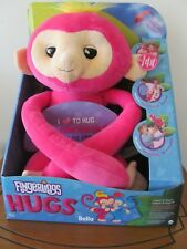 WowWee Fingerlings HUGS BELLA Pink Plush Hugging Monkey Toy NEW