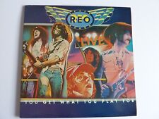 REO SPEEDWAGON YOU GET WHAT YOU PLAY FOR LIVE 2 X LP EXCELLENT CONDITION