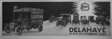 PUBLICITÉ 1913 DELAHAYE CAMION DE POMPIER VOITURE AUTOMOBILES - ADVERTISING