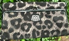 BRIGHTON HAUTE FOR SPOTS CHEETAH Micro Fiber LARGE WALLET ORGANIZER CLUTCH PURSE