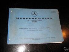 Teilekatalog Mercedes L 206 / 306 DG von 1973