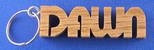 Personalized Hand Cut Wooden Key Chain - Women's