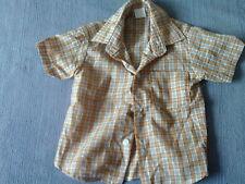 Baby Boys 12-18 Months - Gold Check Short Sleeve Shirt