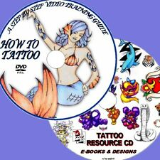 LEARN TO TATTOO EXPERTS TUITION DVD + TATTOO RESOURCE CD, OVER 20000 DESIGNS NEW