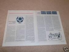 Design Acoustics D-12a Speaker Review, 1978, Info