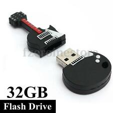 32GB USB 2.0 Moda Guitarra Guitar Flash Pendrive Memoria Memory Stick Thumb Pen
