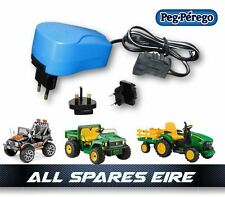 GENUINE PEG PEREGO 12VOLT BATTERY CHARGER FITS ALL 12 VOLT INC JOHN DEERE GATOR