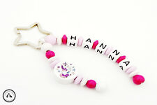 Taschenbaumler/Schlüsselanhänger mit Namen ★ Einhorn in pink/rosa/weiss ★ Neu ★