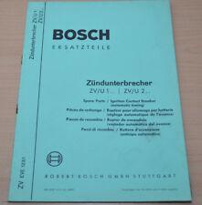 Bosch Zündunterbrecher ZV U1 ZV U2 Ersatzteilliste