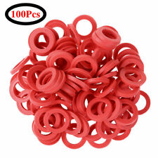 100 Flat Rubber O-Ring Seal Hose Gasket Silicone Washer Lot for Faucet Grommet