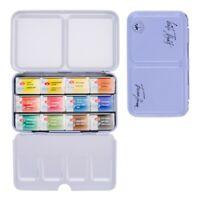 12 Watercolor Paint WHITE NIGHTS Full Pan Tin Metal Box Palette Russian