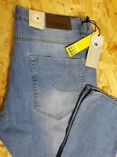 ENZO MENS JEANS W38 L32 BLUE STRAIGHT