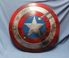 "Battle Damaged Captain America Shield Adult 24"" Prop Toy for Cosplay or Display"