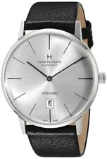 NEW HAMILTON INTRA-MATIC STAINLESS STEEL SILVER DIAL STRAP H38755751