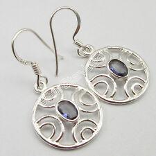 "925 Pure Silver Amazing IOLITE Gemstones FACTORY DIRECT Fancy Earrings 1.3"""