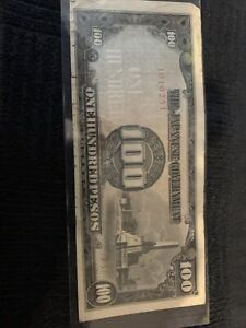 The Japanese Government 100 Pesos Banknote Japan Occupation