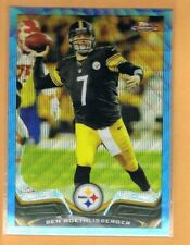 2013 Topps Chrome Blue Wave Refractor Ben Roethlisberger #52 Pittsburgh Steelers