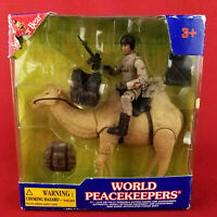 """New Soldier Bear World Peacekeepers 3"""" Articulated Military Figure with Camel"""