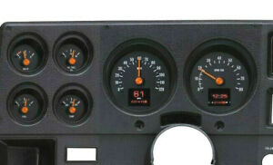 1973-87 Chevy Truck C10 Black Alloy Dakota Digital HDX Gauge Kit