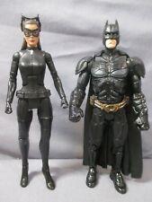 """Dark Knight Rises BATMAN & CATWOMAN 6"""" Lot Movie Masters Mattel DC"""