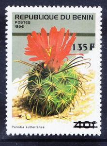 BENIN 2000 Michel 1245 1996 40fr Cactus surcharged 135fr u/m cat 200 euros