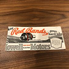 Vintage Howell Red Bands Motor Auto Car Blotter Card