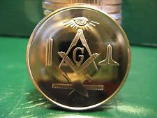 FREEMASON 2 x 1 oz 39 mm fine rare coins MASONIC 3 COPPER  bullion rounds mint