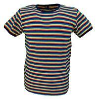 Mens Indie Multi Striped Retro MOD 60s Cotton T Shirt …