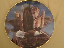 BALD EAGLE collector plate EAGLE'S CASTLE Harold Roe HAVEN OF THE HUNTERS
