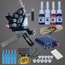 Tattoo Complete Kit Rotary Machine Gun Power Supply Pedal Switch Cord Needle Ink