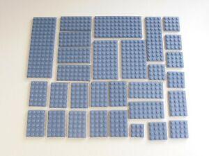 LEGO 30x Platte neu-dunkelgrau 3x3 4x4 4x6 4x8 4x12 6x16 6x12 6x10 (H 023)