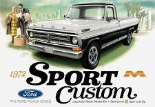Moebius 1972 Ford Sport Custom (F-100) Pickup 1:25 Scale Model Kit  NEW! NEW!