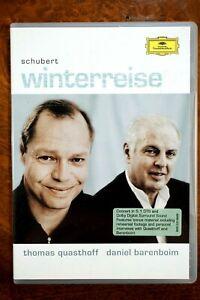 Schubert - Winterreise, Thomas Quasthoff, Daniel Barenboim  - DVD, As New