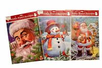 CHRISTMAS XMAS WINDOW DECORATION STICKERS DECOR HOME SANTA SNOWMAN