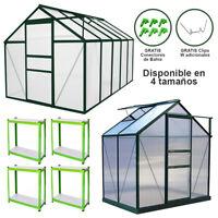 Invernadero de Jardín Varias Dimensiones Marco de Aluminio Plantas de Jardinería