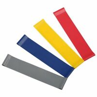 Resistance Loop Bands Exercise Loops 4pc Resistance Band Set Natural Gym Latex