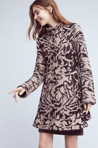 NWT Anthropologie Animal Jacquard Driving Coat by Field Flower By Wendi Reed
