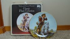 """1981 Norman Rockwell Collectors Plate """"Off To School"""" # 933 With Box"""
