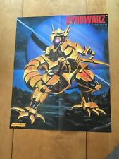 Vintage NES Dynowarz River City Ransom Game Poster from Nintendo Power See Pics