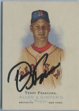 2006 Allen & Ginter Terry Francona Hand Signed Card #292 Auto Red Sox Manager