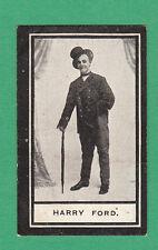 WILLS  SCISSORS - RARE MUSICAL HALL CELEBRITIES CARD -  HARRY  FORD  -  1911