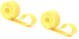 "New Jogon 26"" 23mm Rim Strips 26 MTB Bike Wheels PAIR Yellow Tape Nylon SCHRADER"