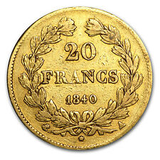 France Gold 20 Francs - Louis Philippe