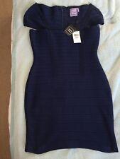 Herve Leger L Navy Bodycon Bandage Dress Designer