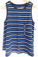 NWT Gap Women's Sleeveless Easy Swing Tank Top Round Hem Striped X-Small NEW