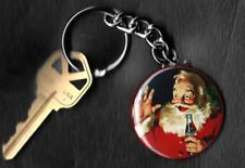 Coca-Cola Santa Surprised Haddon Sundblom Keychain Key Chain