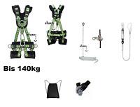 Premium Set Auffanggurt Atlas inkl Seil 20m Seilbremse Falldämpfer Fallschutz