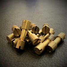 More details for corby bolt rivets knife-razor-handle fastener brass-handle making-set of 24