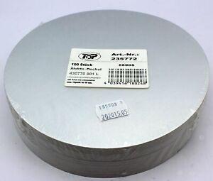 100 Stück Alu Kartondeckel für Aluschalen 801L Ø ca. 18 cm